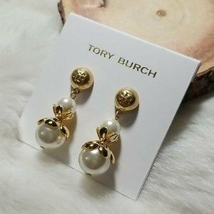 Tory Burch pearl drop earrings